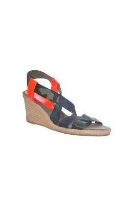 Sandale print camuflaj si oranj Billi Bi, marime 40