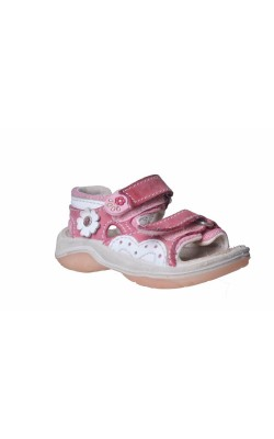Sandale roz din piele Baren Schuhe, marime 21
