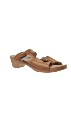Sandale Scholl, piele, talpa lemn, marime 38.5