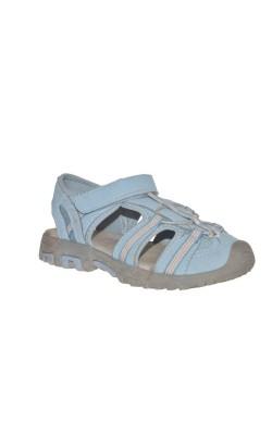 Sandale semi-inchise Alive, bleu cu oranj, marime 34