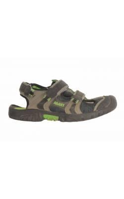 Sandale semi-inchise  bej cu negru Agaxy, marime 36