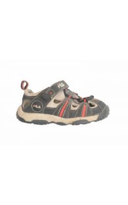 Sandale semi-inchise bleumarin cu rosu Fila, marime 22