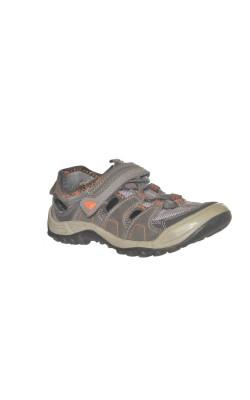 Sandale semi-inchise gri cu oranj Agazy, marime 31