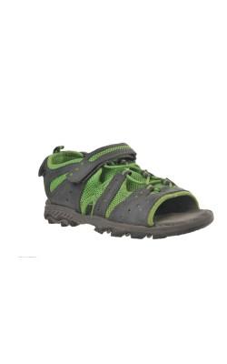 Sandale semi-inchise gri cu verde Crane, marime 33