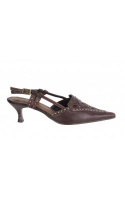 Sandale maro Tamaris, piele naturala, marime 36