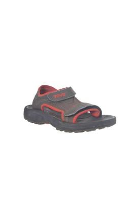 Sandale Teva, kaki cu oranj, marime 28