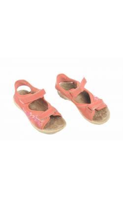 Sandale Twisty, piersica decor flori, marime 33