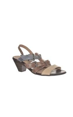 Sandale usoare Jana, piele naturala, marime 38.5 calapod lat