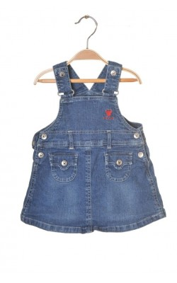 Sarafan denim Little Baby by Lindex, 9 luni