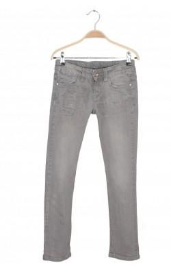 Tapered jeans gri Zara, talie ajustabila, 9-10 ani
