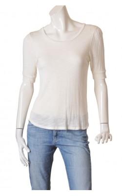 Top alb jerseu texturat H&M, marime S