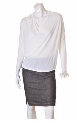 Top alb oversized din vascoza Lindex, marime M
