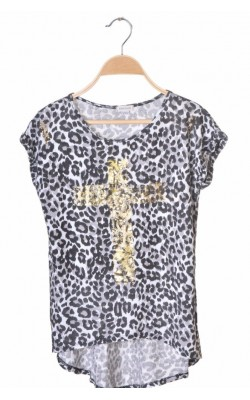Top asimetric animal print River Island, 11-12 ani