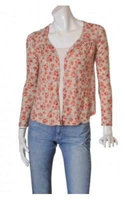 Top jerseu fin La Redoute, print floral, marime 38