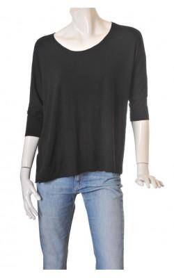 Top jerseu negru Uno of Oslo, croi oversized, marime M