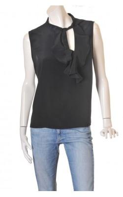 Top negru guler cu funda M&S Mode, marime XL