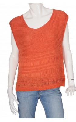 Top oranj tricot fin Zoul Edition, marime 40