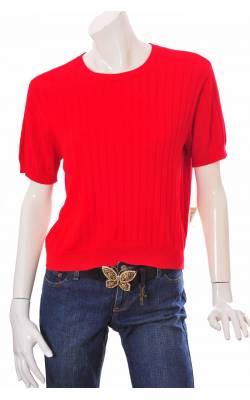 Top tricot fin rosu Liz Claiborne, bumbac, marime L
