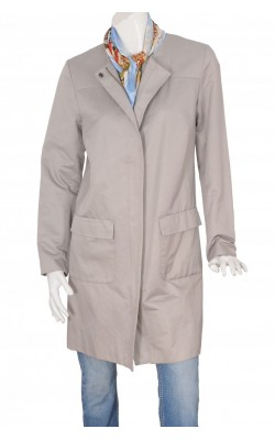 Trench gri cu guler rotund Sara Kelly by Ellos, marime 46