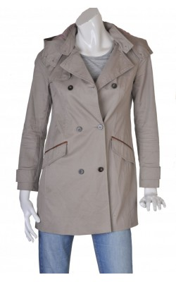 Trench taupe din bumbac Zara, marime S