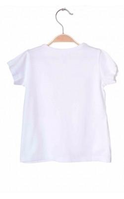 Tricou alb cu aplicatii oranj, 2-3 ani