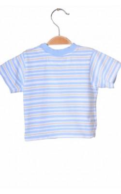 Tricou alb cu bleu Disney, 3-6 luni
