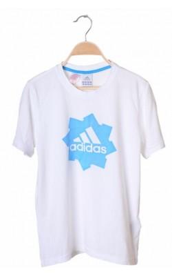 Tricou alb cu logo imprimat Adidas, 13-14 ani
