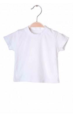 Tricou alb cu maneca scurta Matalan, 0-3 luni
