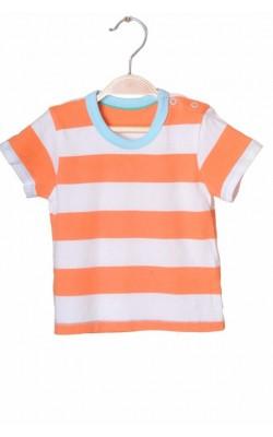 Tricou alb cu oranj Mark&Spencer, 12-18 luni