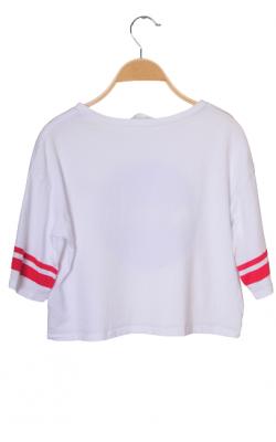 Tricou alb supradimensionat H&M, 12-14 ani