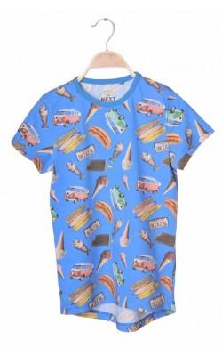 Tricou albastru cu imprimeu Next, 10-11 ani