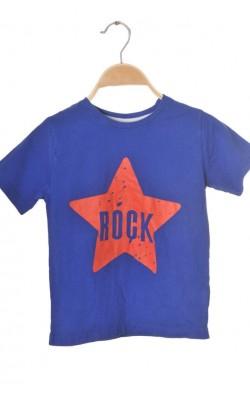 Tricou albastru Rebel by Primark, 5-6 ani