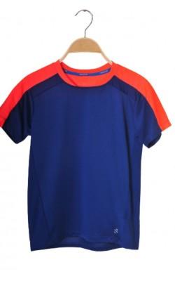 Tricou antrenament H&M Sport, bleumarin cu oranj, 10-11 ani