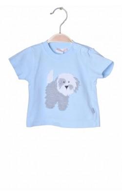 Tricou bleu cu catel Debenhams Bluezoo, 0-3 luni