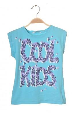 Tricou bleu cu imprimeu Cubus, 7 ani