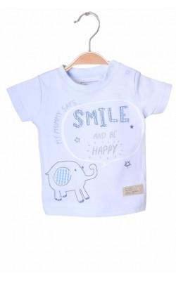 Tricou bleu cu imprimeu Next, 1-3 luni
