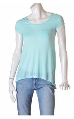 Tricou bleu din vascoza H&M, marime 34