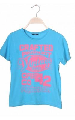 Tricou bleu imprimeu roz George, 7-8 ani