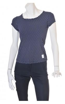 Tricou bleumarin cu buline albe Etirel, marime S