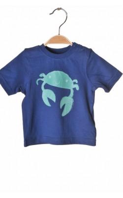 Tricou bleumarin cu imprimeu Mothercare, 3-6 luni, 8 kg