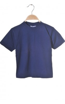 Tricou bleumarin Myc, bumbac organic, 5 ani