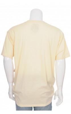 Tricou galben pal cu imprimeu Chemistry, marime XL