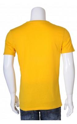 Tricou galben Celio, slim fit, marime M