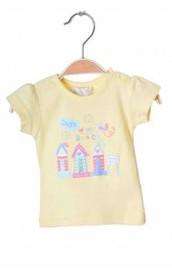 Tricou galben cu imprimeu Early Days, 0-1 luni