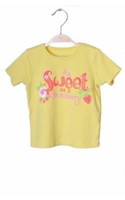 Tricou galben cu imprimeu George, 1.5-2 ani