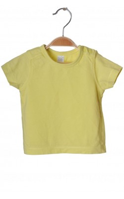 Tricou galben din bumbac Mini Club, 6-9 luni