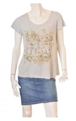 Tricou gri cu imprimeu Design by Kappahl, marime L