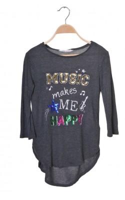 Tricou gri cu imprimeu H&M, 10-12 ani