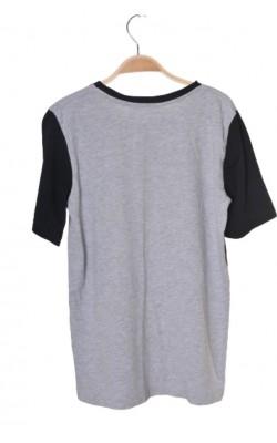 Tricou gri cu imprimeu H&M, 12-14 ani