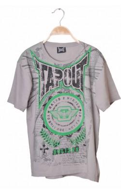 Tricou gri cu imprimeu Tapout, 14-15 ani